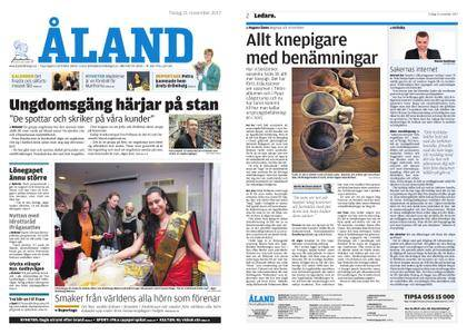 Ålandstidningen – 21 november 2017
