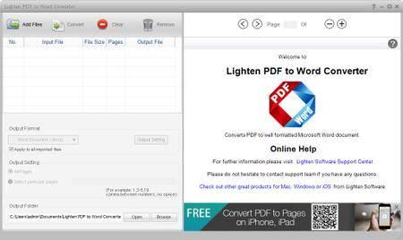 Lighten PDF to Word Converter 6.2.1 Multilingual + Portable