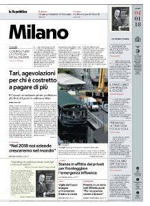 la Repubblica Milano - 4 Gennaio 2018
