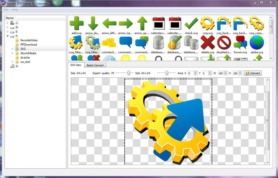 Aurora SVG Viewer and Converter 13.0729