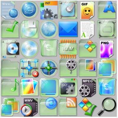 Ice Crystal Icons