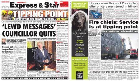 Express and Star Sandwell Edition – November 07, 2017
