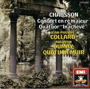 Jean-Philippe Collard, Augustin Dumay, Quatuor Muir - Chausson: Concerto en ré Majeur, Quatuor 'Inachevé' (1994)