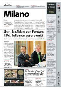 la Repubblica Milano - 8 Gennaio 2018