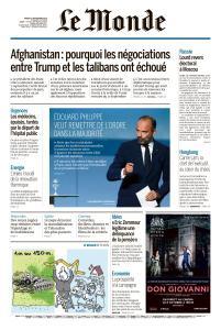 Le Monde du Mardi 10 Septembre 2019