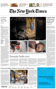 International New York Times - 11 August 2020