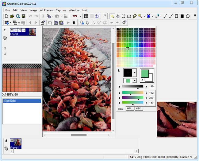 GraphicsGale 2.05.05 + Portable