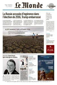 Le Monde du Dimanche 18 et Lundi 19 Février 2018