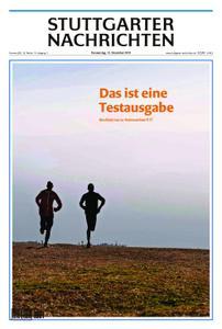 Stuttgarter Nachrichten Blick vom Fernsehturm - 12. Dezember 2019