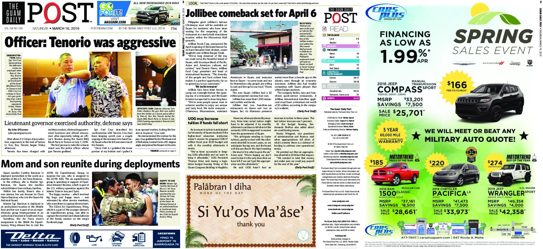 The Guam Daily Post – March 16, 2019