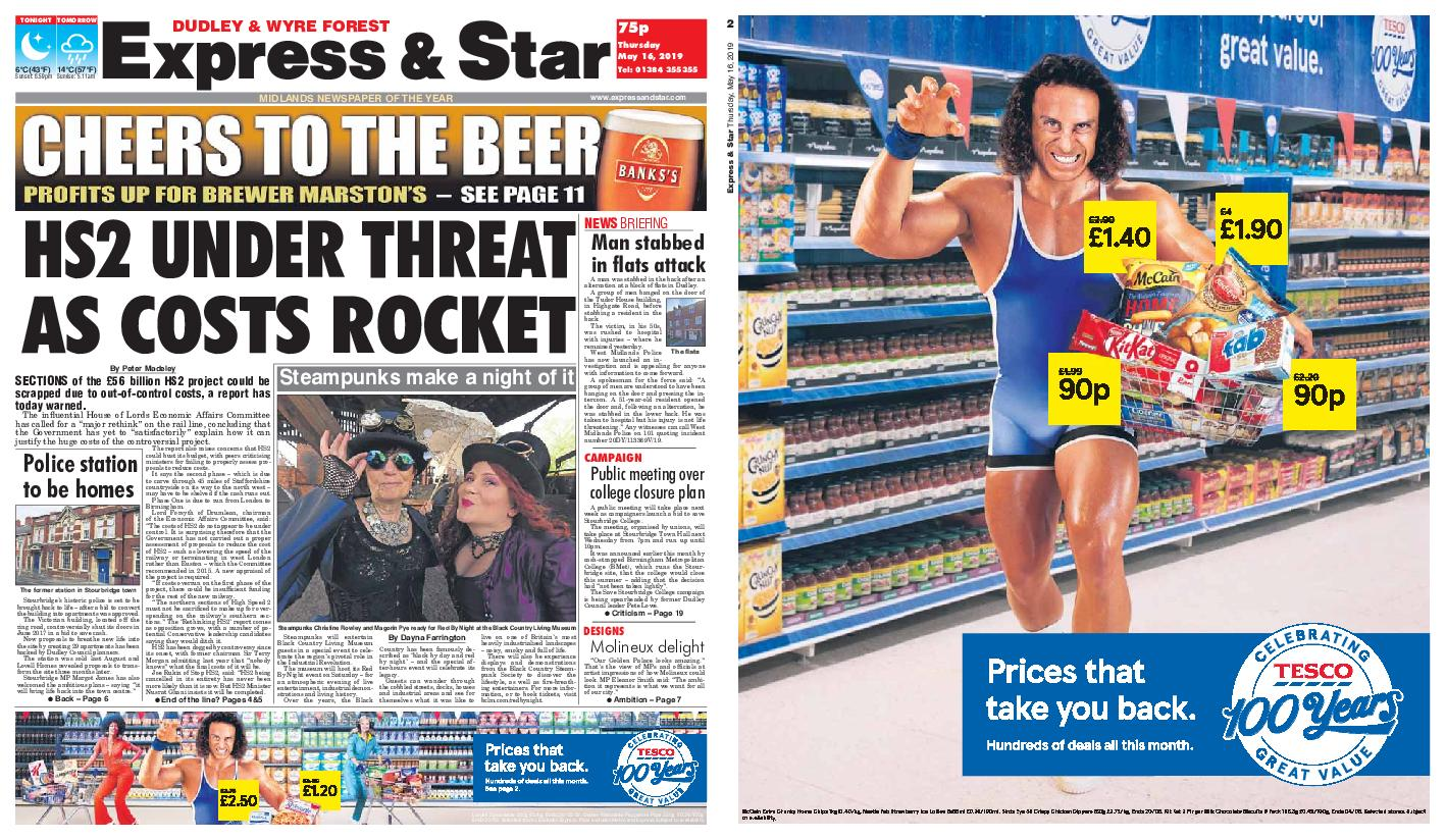 Express and Star Dudley and Wyre Forest Edition – May 16, 2019