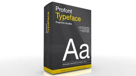 Pixel Film Studios - ProFont: Typeface Plugin for Final Cut Pro X Mac OS X