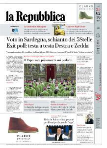 la Repubblica - 25 Febbraio 2019