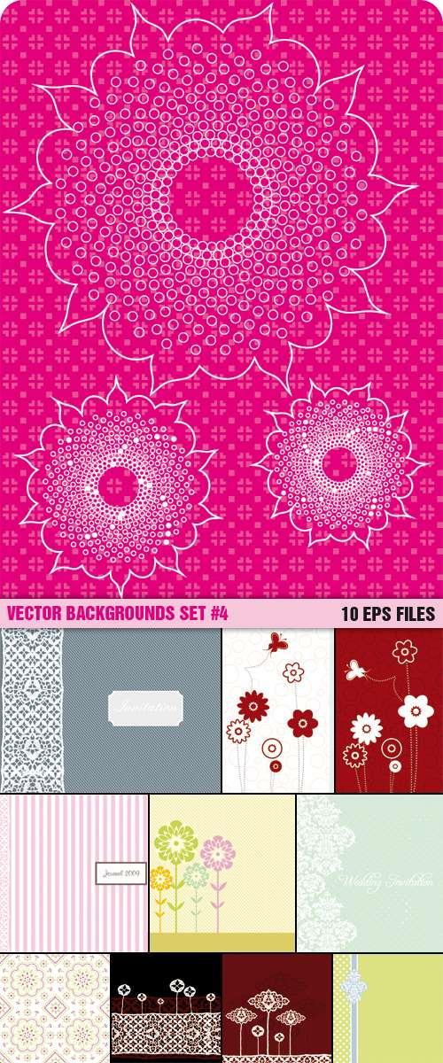 Vector Backgrounds Set #4