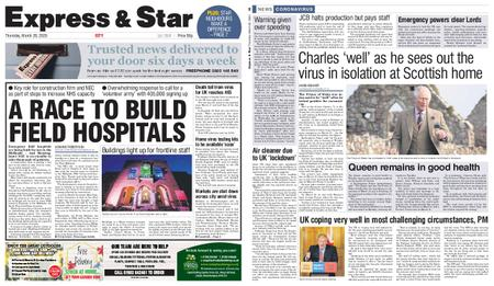 Express and Star City Edition – March 26, 2020