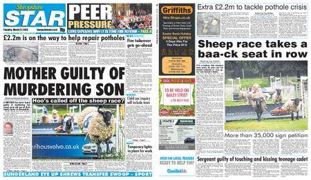 Shropshire Star Shrewsbury Edition – March 27, 2018