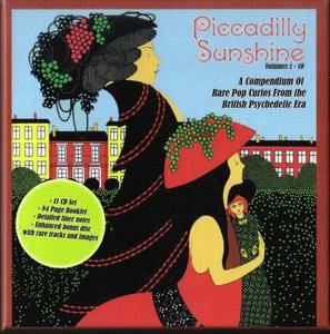 Various Artists - Piccadilly Sunshine, Volumes 1-10: A Compendium Of Rare Pop Curios From The British Psychedelic Era (2015)