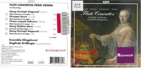 Sieglinde Größinger & Ensemble Klingekunst - Wagenseil, Bonno, Gassmann & Monn: Flute Concertos (2017)