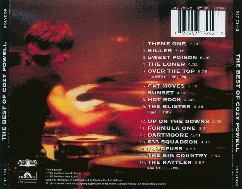 Cozy Powell The Best Of Cozy Powell 1997 Re Up Avaxhome