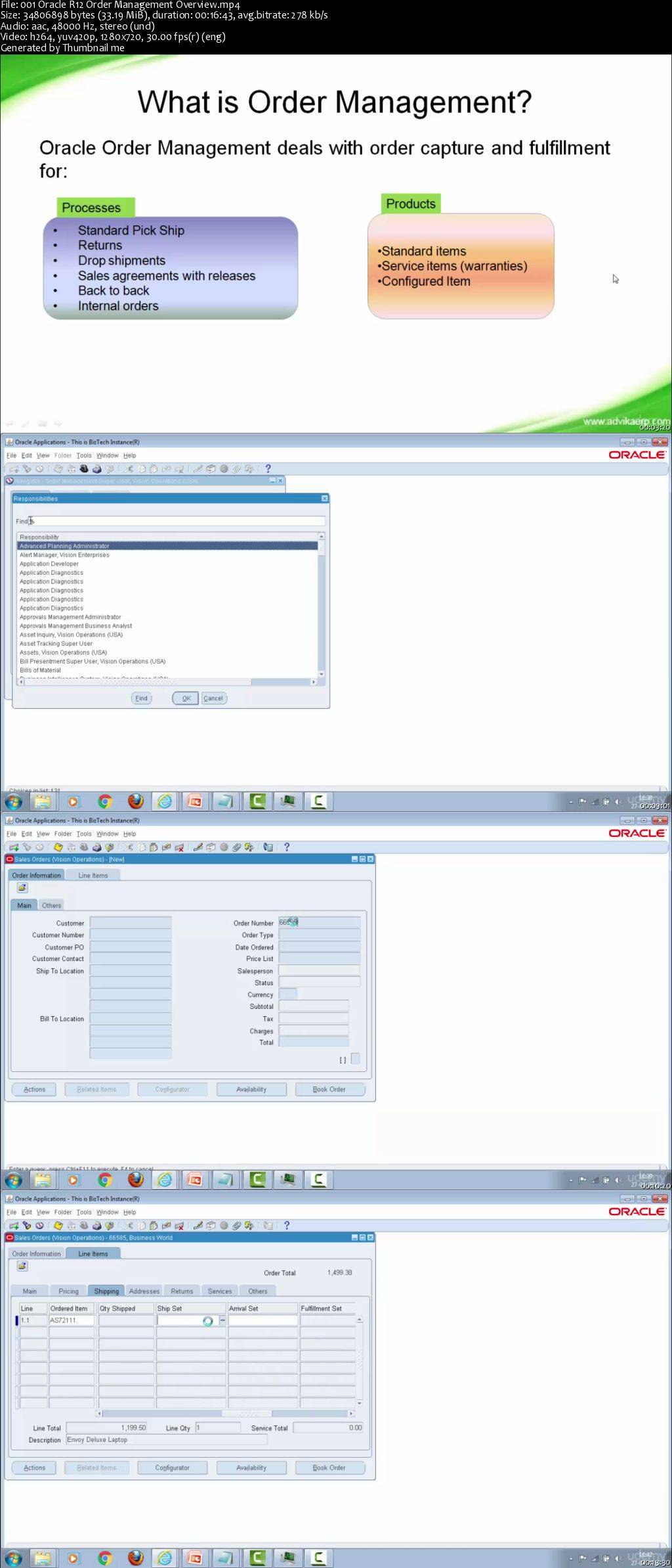 Oracle R12 Order Management Functional Training (2016)