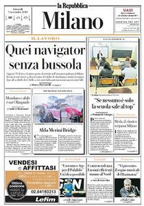la Repubblica Milano - 7 Novembre 2019