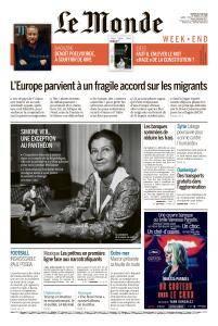 Le Monde du Samedi 30 Juin 2018