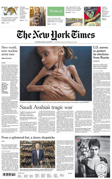 International New York Times - 27-28 October 2018