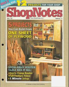 Shopnotes Issues 71-85