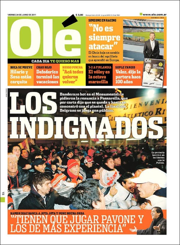 Diario Ole - 24 de Junio 2011
