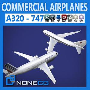Cgtrader - Pack - Commercial Airplanes 3D model