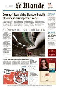 Le Monde du Mardi 16 Janvier 2018