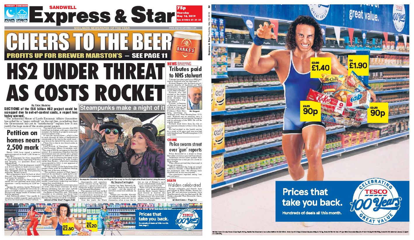 Express and Star Sandwell Edition – May 16, 2019