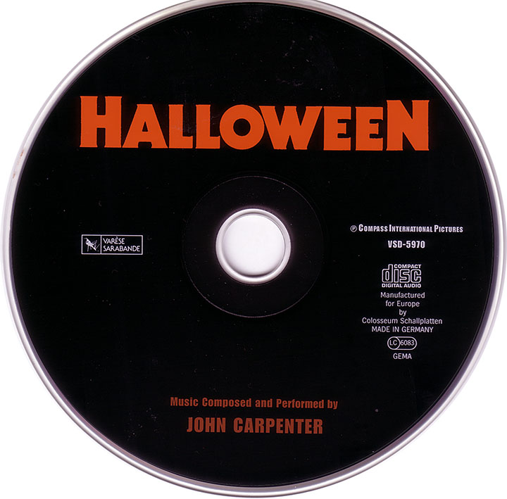 John Carpenter - Halloween: Original Motion Picture Soundtrack (1978) 20th Anniversary Edition 1998 [Re-Up]