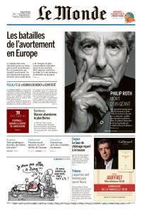 Le Monde du Jeudi 24 Mai 2018