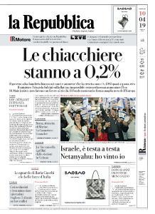 la Repubblica - 10 Aprile 2019