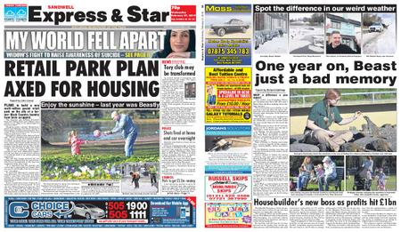 Express and Star Sandwell Edition – February 27, 2019
