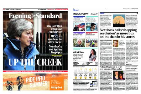 London Evening Standard – March 21, 2019