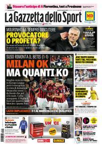 La Gazzetta dello Sport Roma – 09 novembre 2018