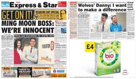 Express and Star City Edition – August 31, 2017