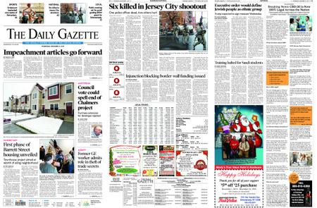 The Daily Gazette – December 11, 2019