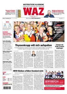 WAZ Westdeutsche Allgemeine Zeitung Oberhausen-Sterkrade - 28. September 2018