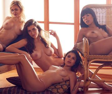 Thanh Nhan Hoang, Veronika Klimovits, Katherina Giannoglou & Sophie Brill - Playmate des Jahres 2018 - Kalender (part 2)