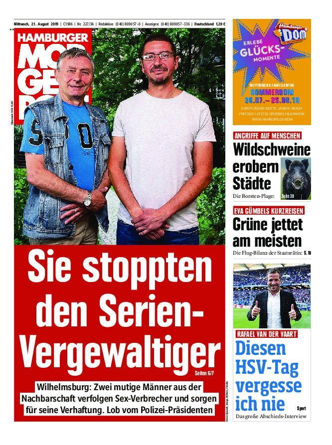 Hamburger Morgenpost – 21. August 2019
