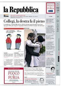 la Repubblica - 17 Febbraio 2018