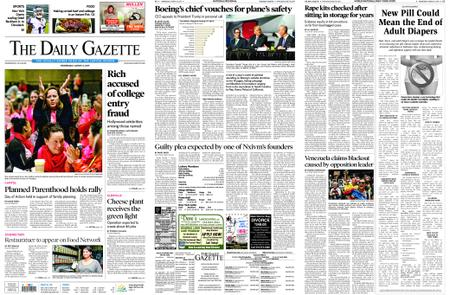 The Daily Gazette – March 13, 2019