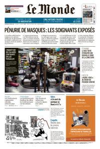 Le Monde du Vendredi 20 Mars 2020