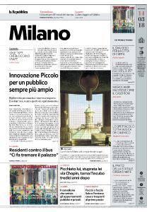 la Repubblica Milano - 14 Marzo 2018