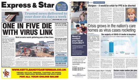Express and Star City Edition – April 15, 2020