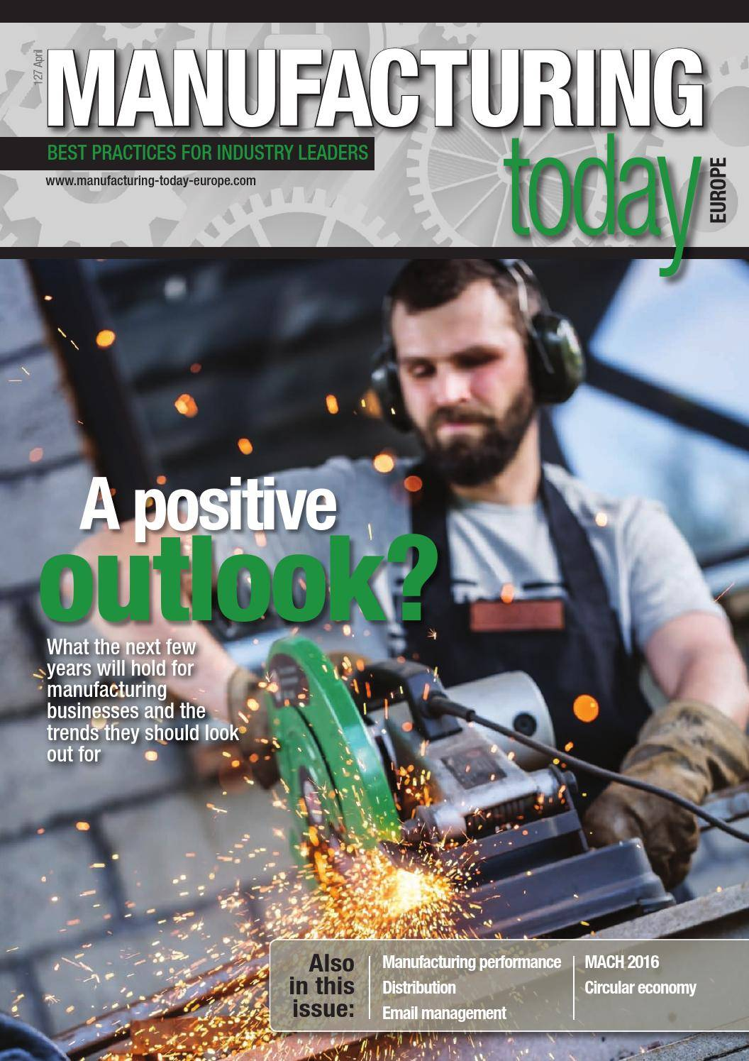 Manufacturing Today Europe - April 2016