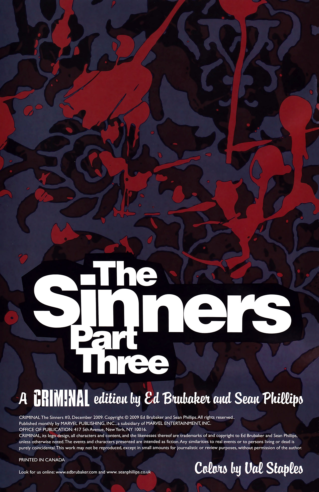 Criminal: The Sinners #3 (Of 5)
